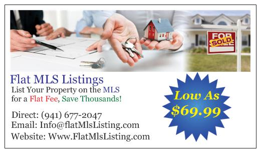 Flat MLS Listing Services  CLICK HERE